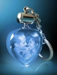 Porte clefs lumineux bleu.